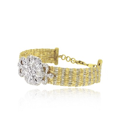 Charming Gold Bracelet with CZ Diamonds