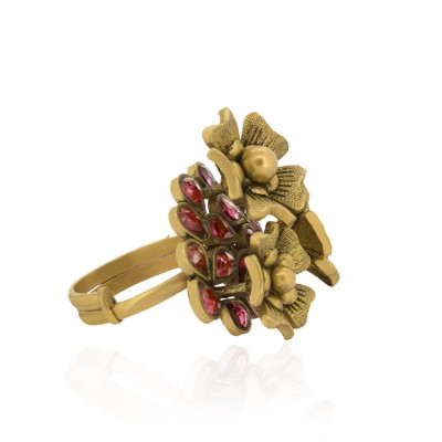 Antique Gold Floral Ring