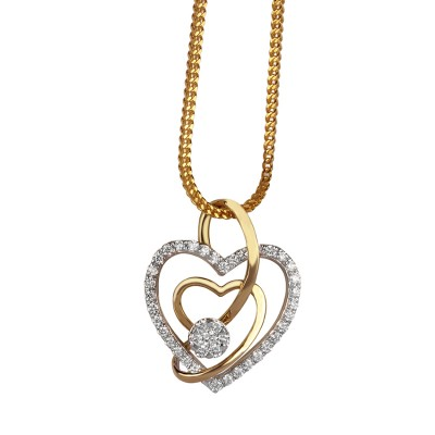 Heart Shaped Diamond Pendant