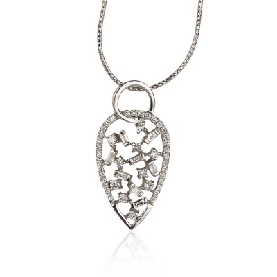 Celestial Pear Diamond Pendant