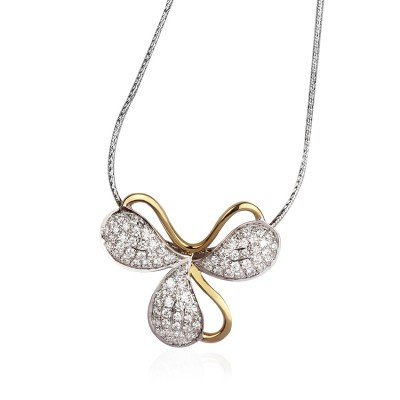 Three Leaf Clover Diamond Pendant