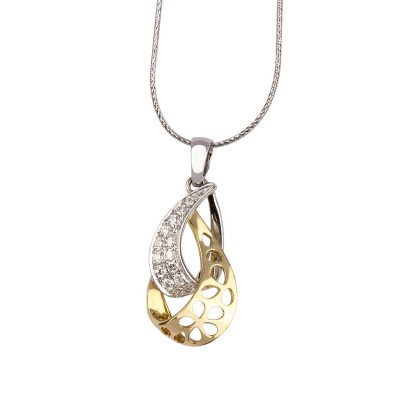 Double Drop Diamond Pendant