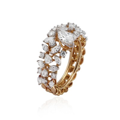 Celestial Diamond Cocktail Ring
