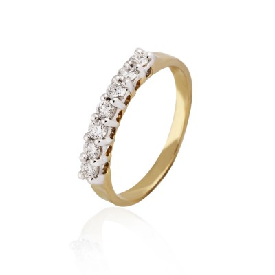 Classic Single Line Engagement Diamond Ring
