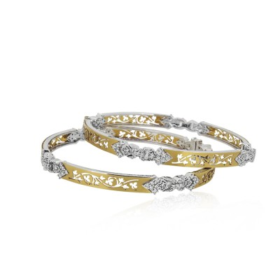 Laser Cut Diamond Bangles
