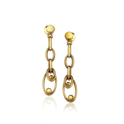 22Kt Gold Loop Dangle Earrings