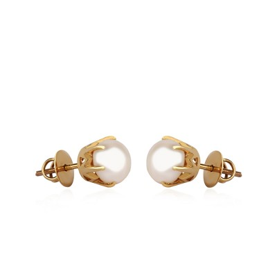 18Kt Gold Pearl Earrings