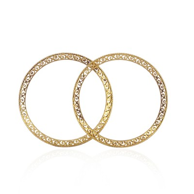 Metro Single Line Gold Bangle with CZ Diamonds