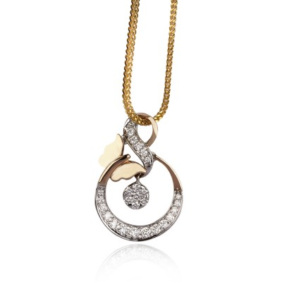 Rose Gold Celestial Diamond Pendant