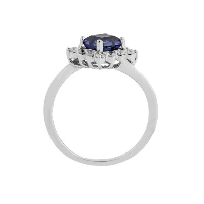Blue Stone Diamond Ring