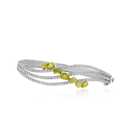 Celestial Diamond Bracelet with Yellow Stones