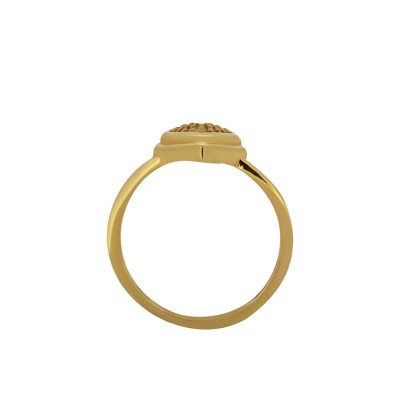 Heart Shaped Gold Ring