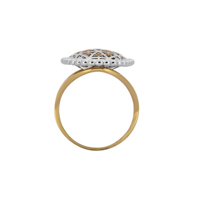 Italian 18kt Ring with Rhodium Polish