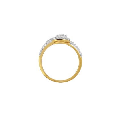 Fancy Gold Ring with CZ Diamonds