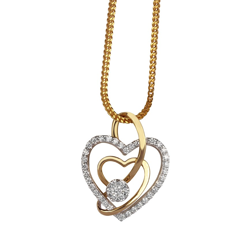 Heart shaped diamond pendant pendants diamond aloadofball Gallery